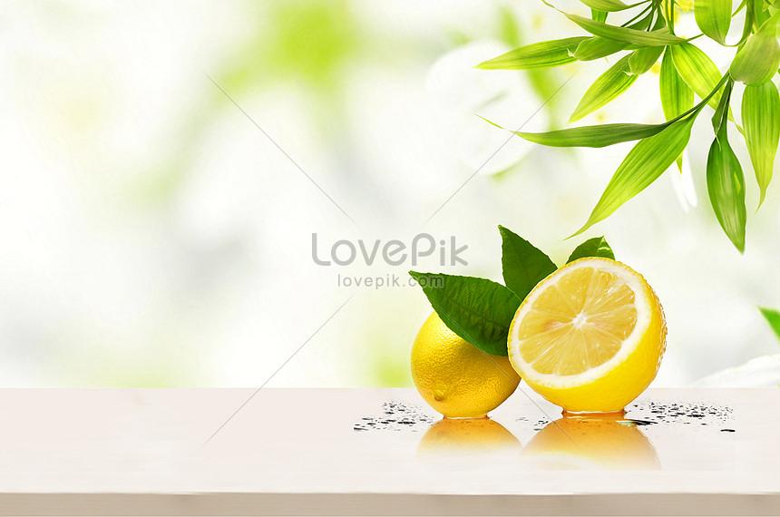 taze limon arka plan
