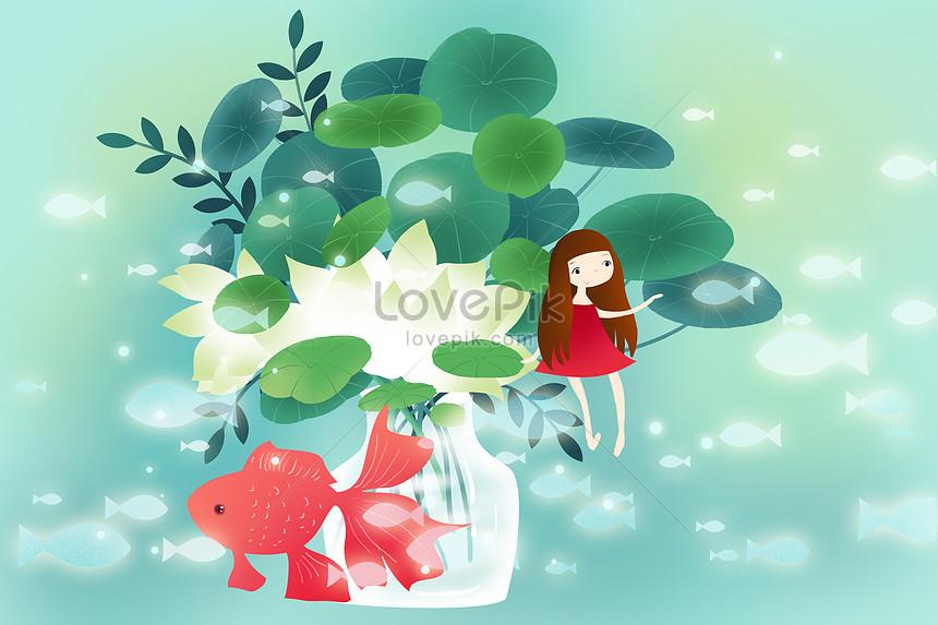 新鮮な夏のイラストの壁紙イメージ 図 Id Prf画像フォーマットpsd Jp Lovepik Com