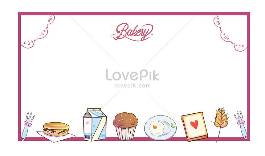 breakfast baking material frame