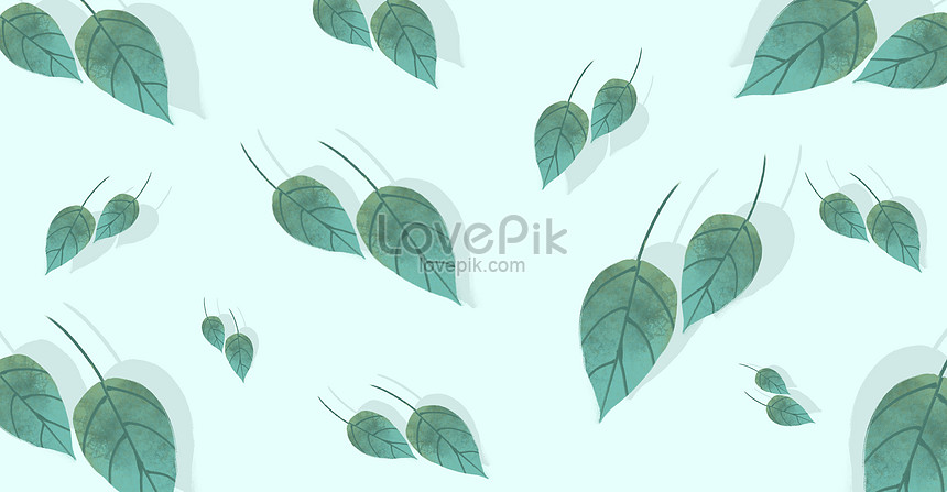 fresh green leaf illustration background