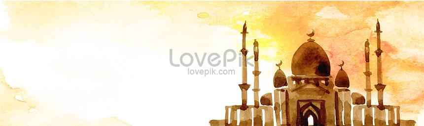 eid mubarak watercolor background