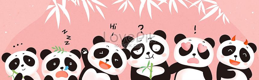 hand painted cartoon panda