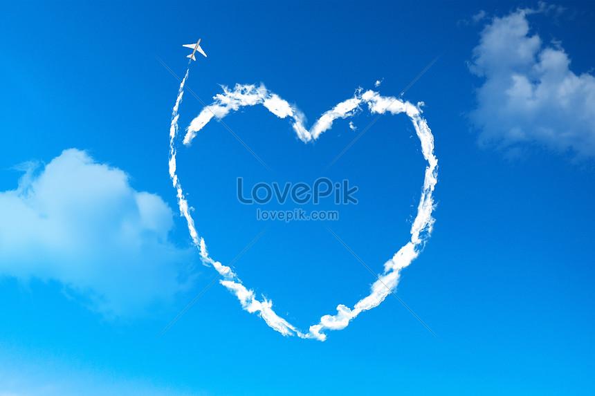 91+ Gambar Awan Bentuk Love Kekinian