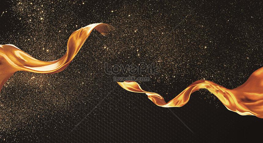 black gold ribbon background