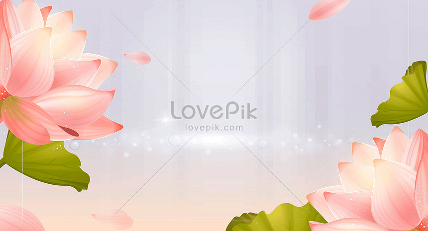 creative beauty and lotus background