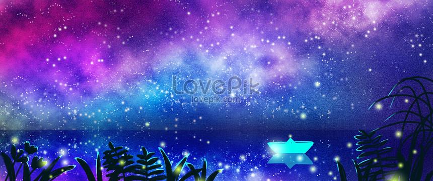 星空與螢火的夏夜之旅