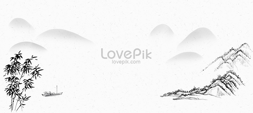 landscape chinese style ink painting background