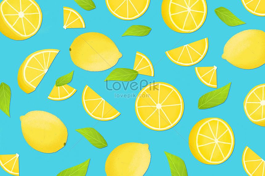 清新檸檬背景素材