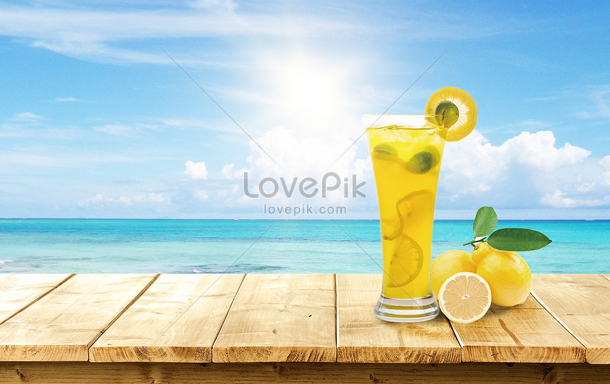 poster of chilled beverage in summer
