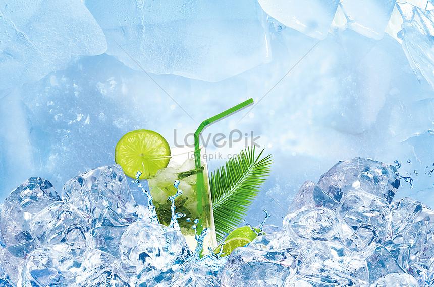 summer fresh beverage background