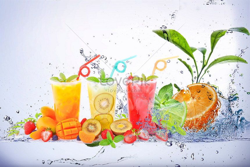 iced beverages in summer