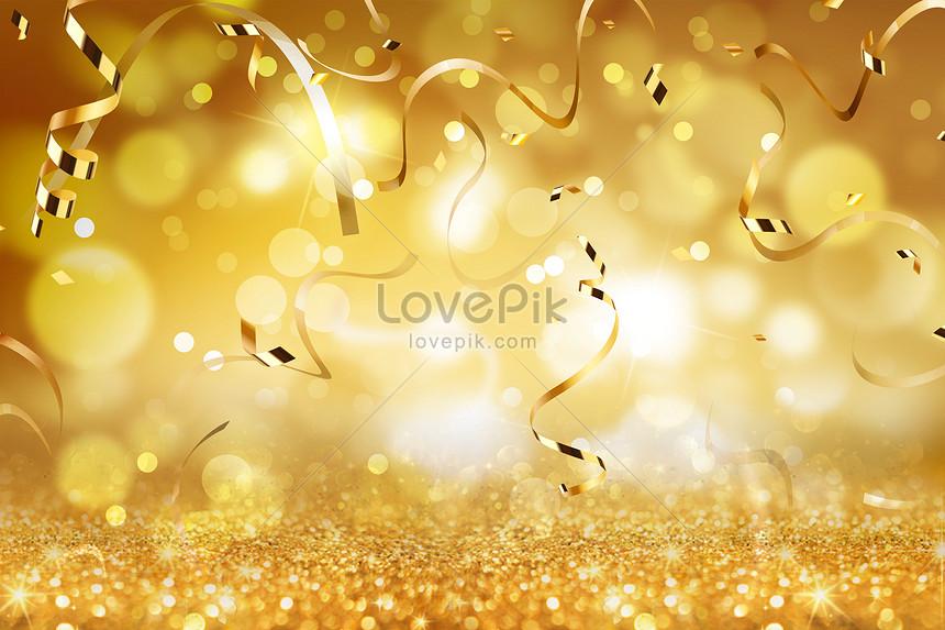 golden ribbon background