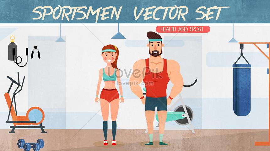 サンシャインスポーツフィットネスの男性と女性