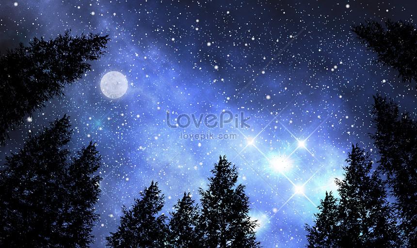星月の美しい背景