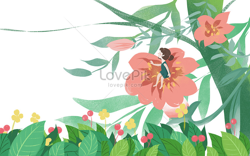 summer plant flower girl