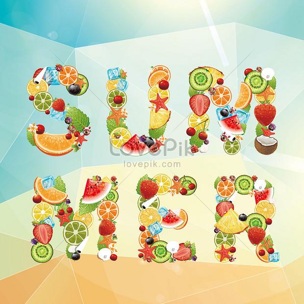夏季水果背景