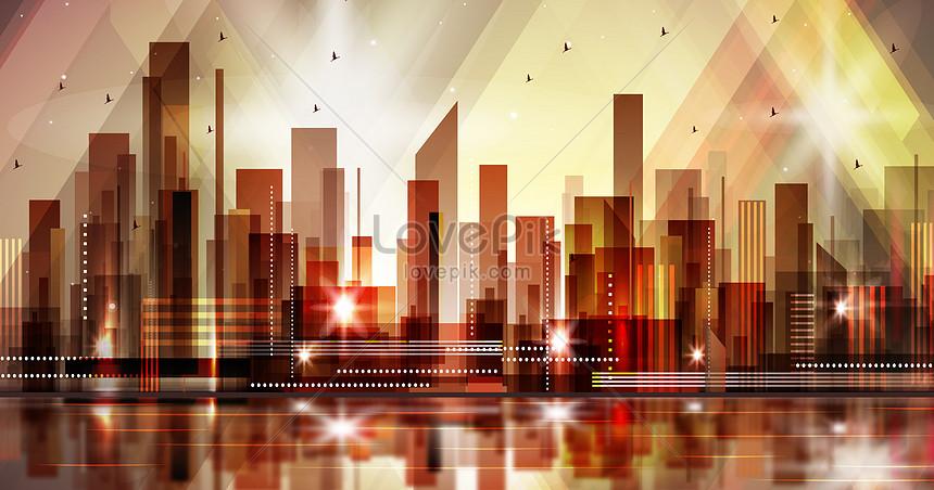 prachtige stereo stereo illustratie van het stadssilhouet