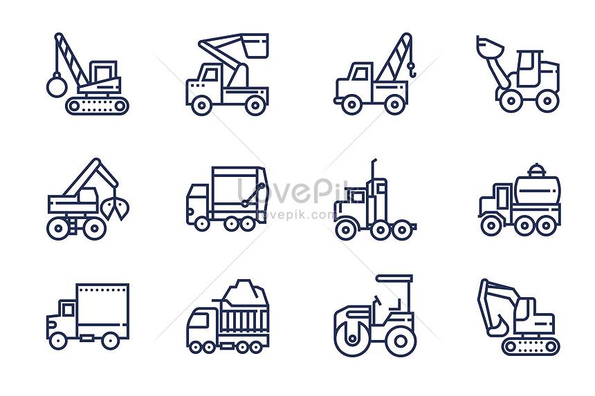 建設運輸工具圖標