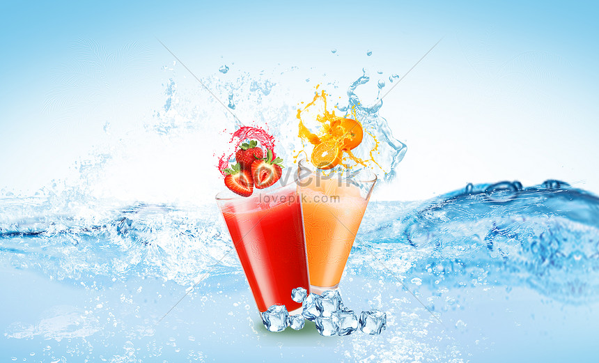 ice drink in summer