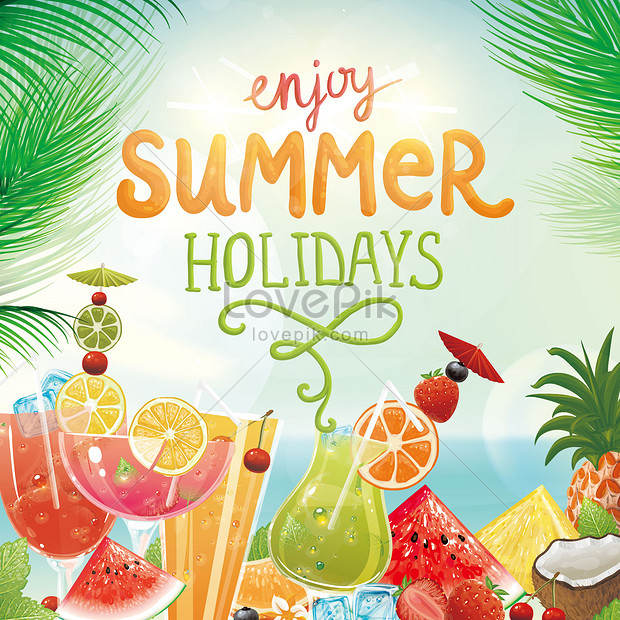 summer fruit background