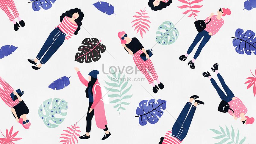 ファッションの女の子アイコンイラストイメージ図 Id 400336759prf画像