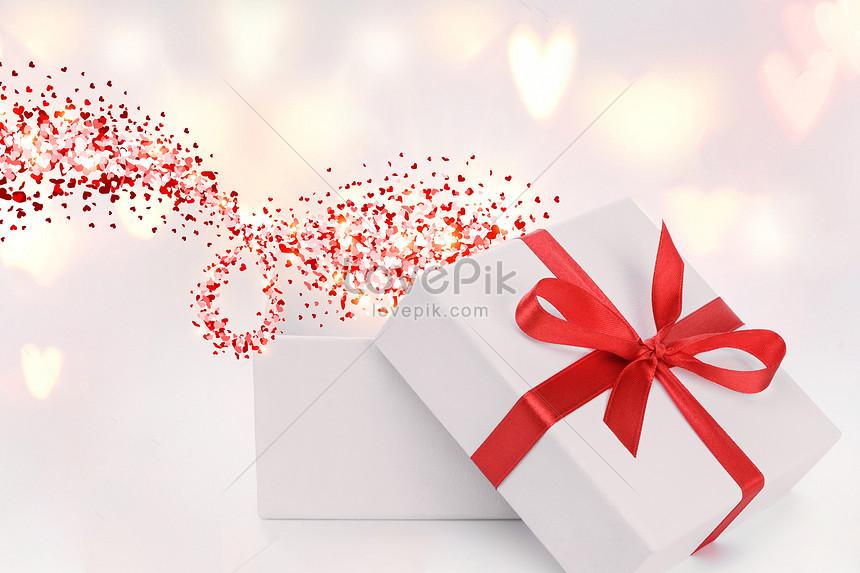 adegan kotak hadiah putih
