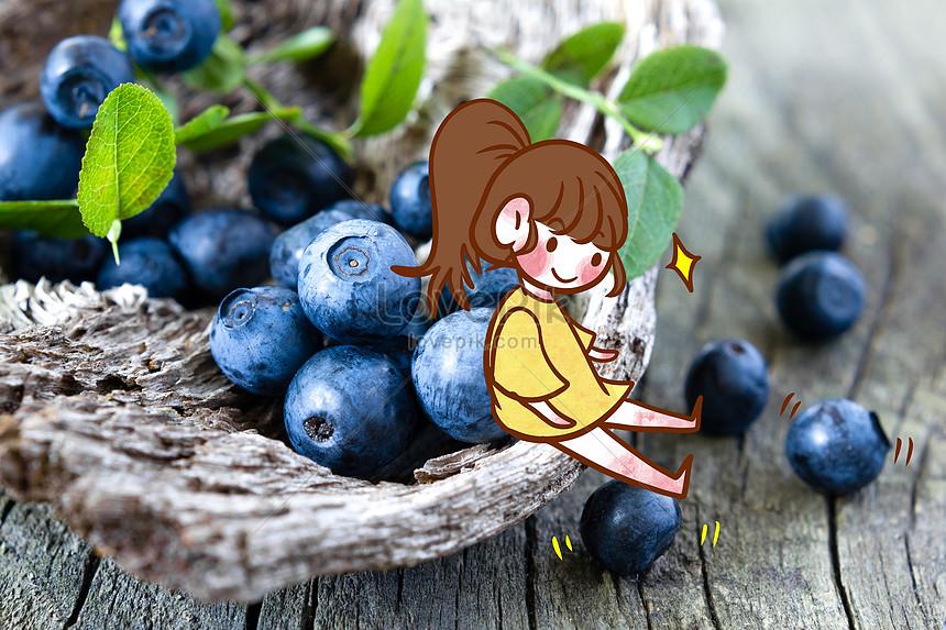 blueberry fruit girl