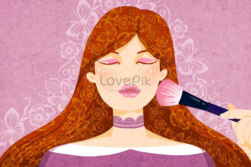 美しい化粧イラストイメージ図 Id 400461156prf画像フォーマットpsdjp