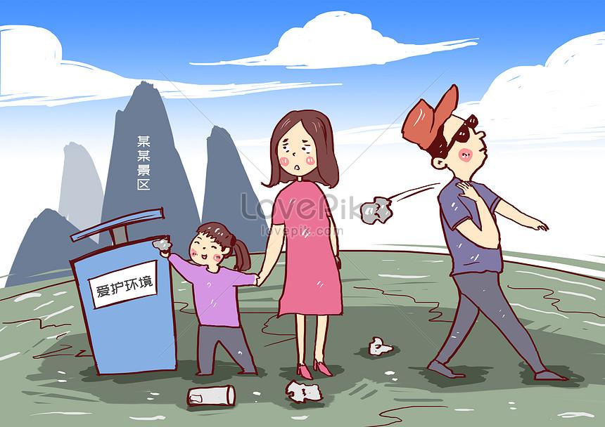 do not litter in scenic spots