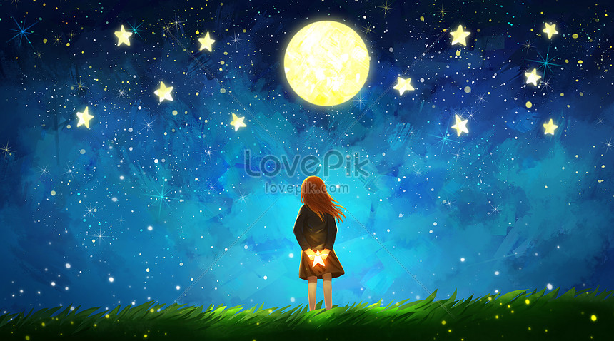 Looking Up At The Stars Illustration Image Picture Free Download 400488286 Lovepik Com