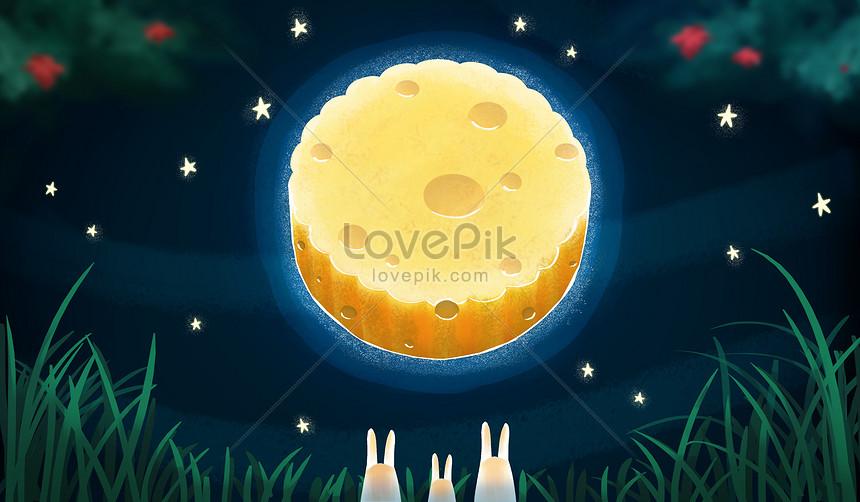 bolo da lua da lua