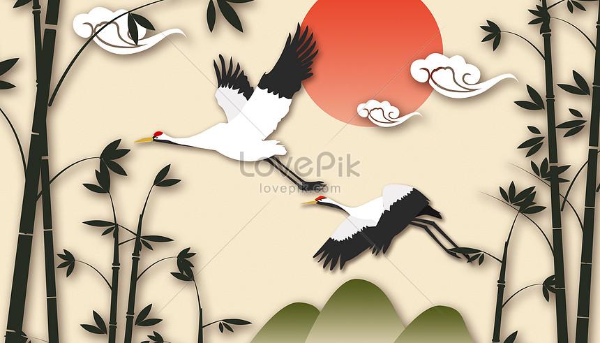 paper cut wind crane