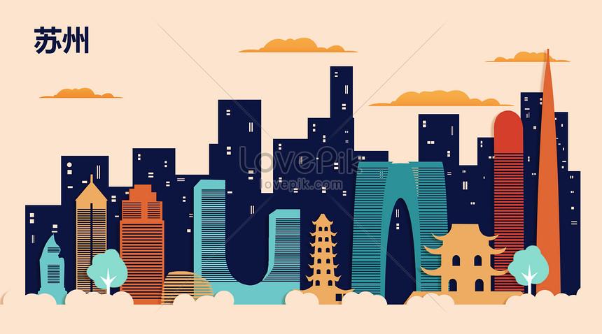 suzhou flat landmark city