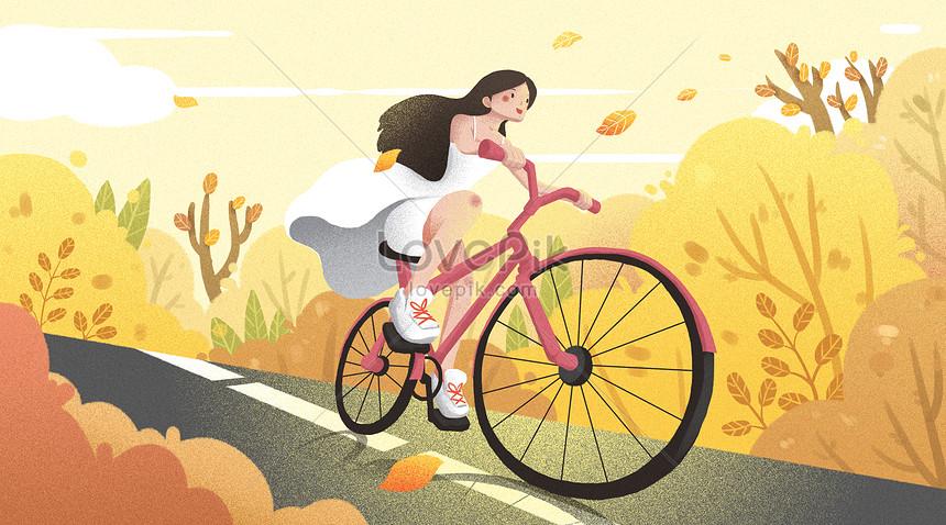 girls free journey in autumn