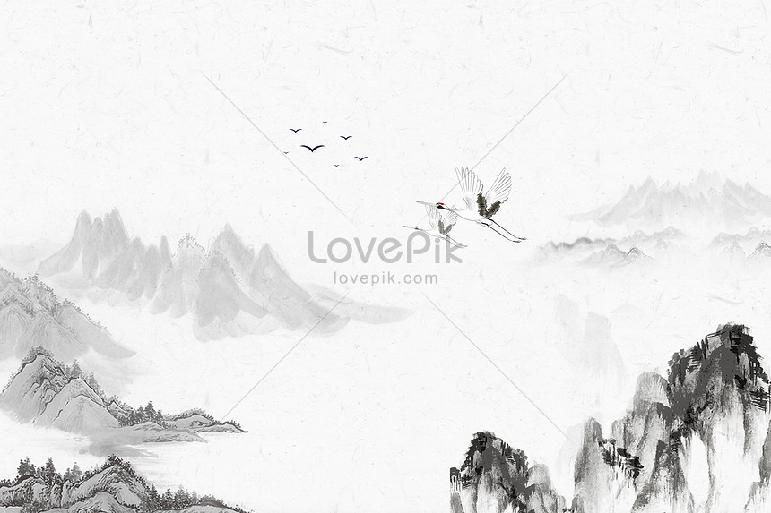 background of ink painting style
