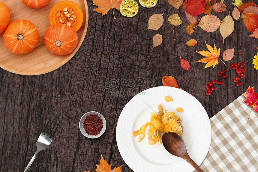 autumn cuisine background