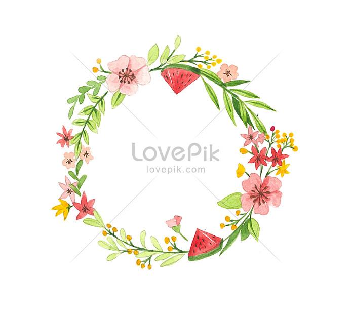 Photo de fond transparent avec petite bordure de fleur