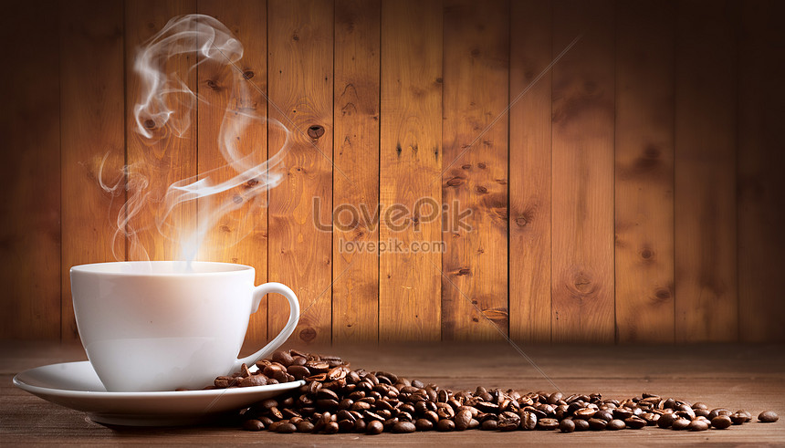 creative coffee beans background
