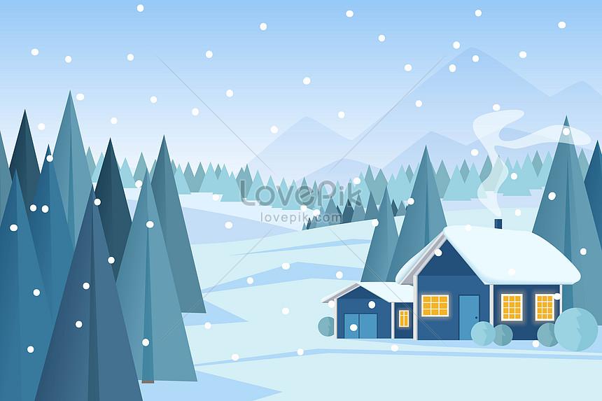 冬の美しい風景イラストイメージ図 Id 400951144prf画像フォーマット