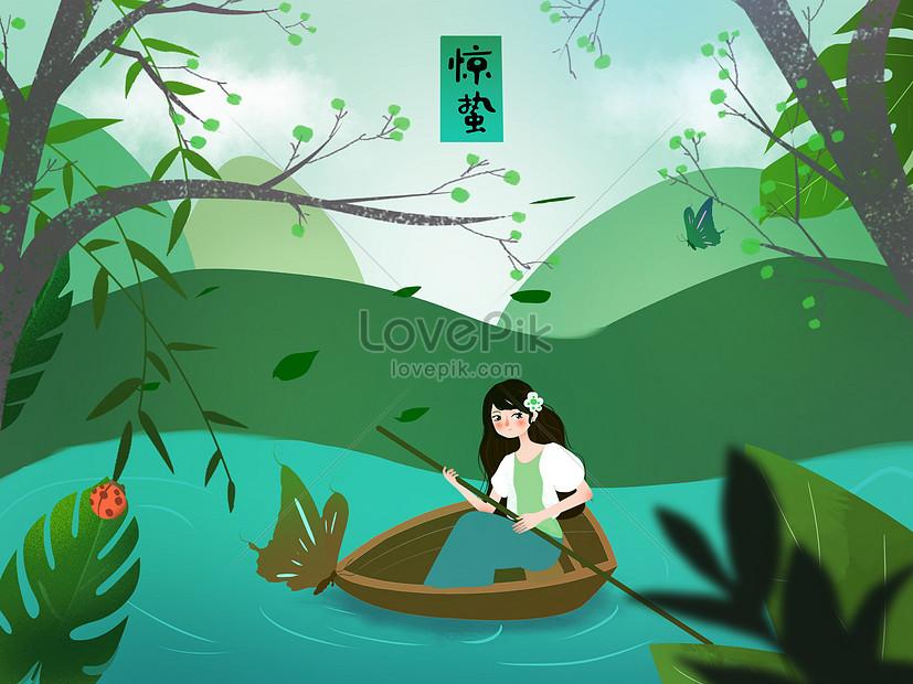 xiao qingxin style q print illustration fears