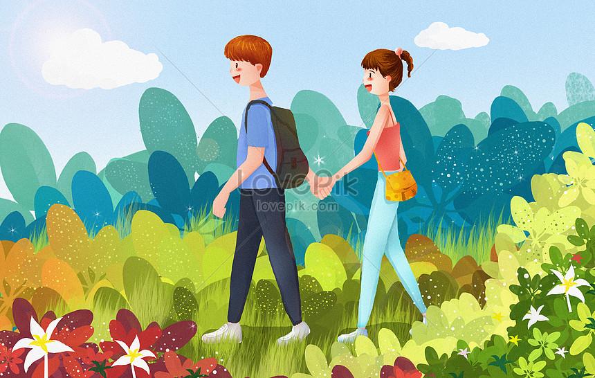 Pelajar Lelaki Dan Perempuan Bergerak Dengan Tangan Gambar Unduh Gratis Imej 401015164 Format Psd My Lovepik Com