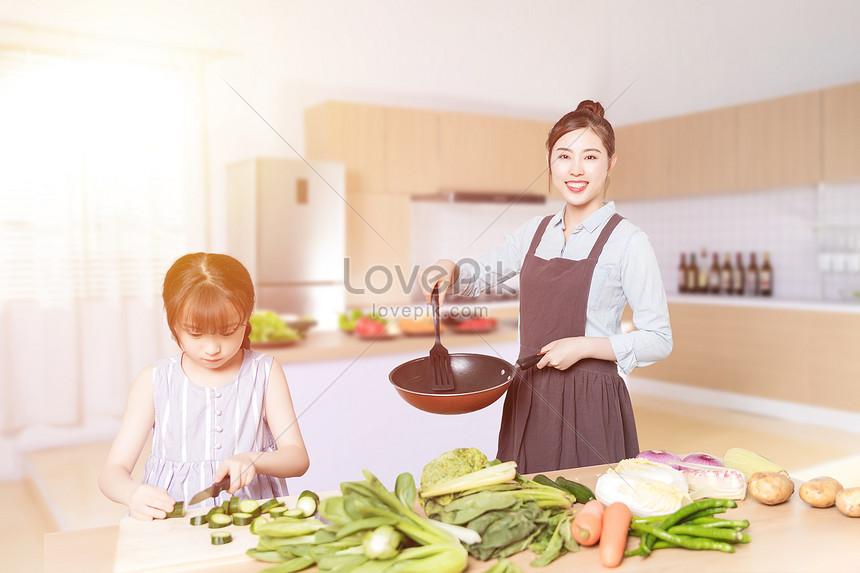 Memasak Ibu Dan Anak Perempuan Gambar Unduh Gratis Imej 401034318 Format Psd My Lovepik Com