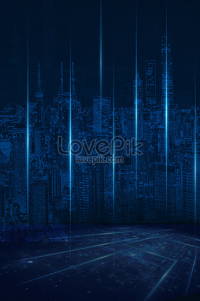 城市科技背景