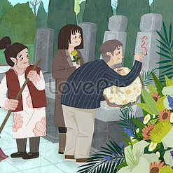 Ching Ming Festival Images of  Illustration, Poster Design, Backgrounds Free Download on Lovepik