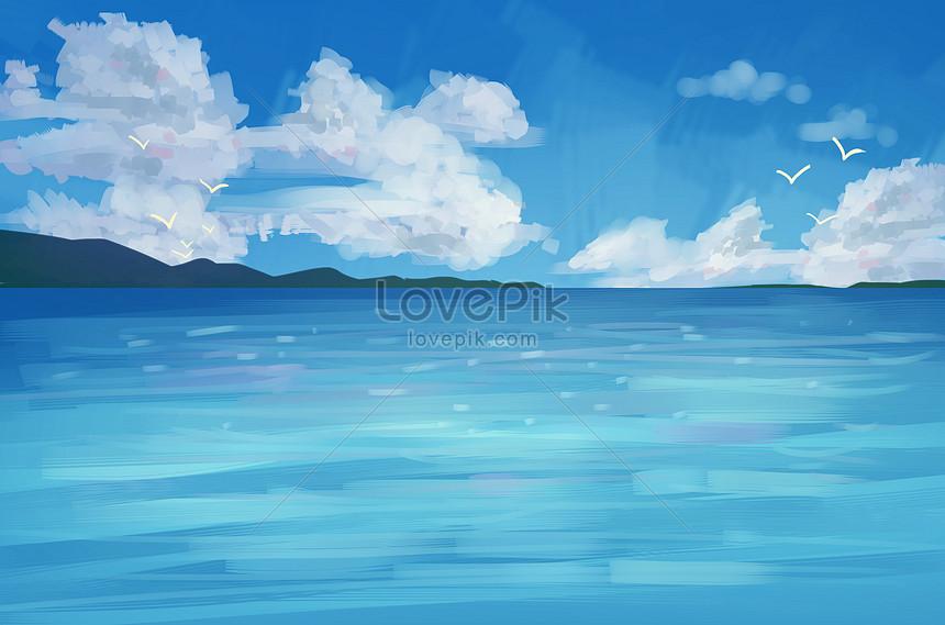 Aesthetic Illustration Landscape Background Creative Image Picture Free Download 401096392 Lovepik Com