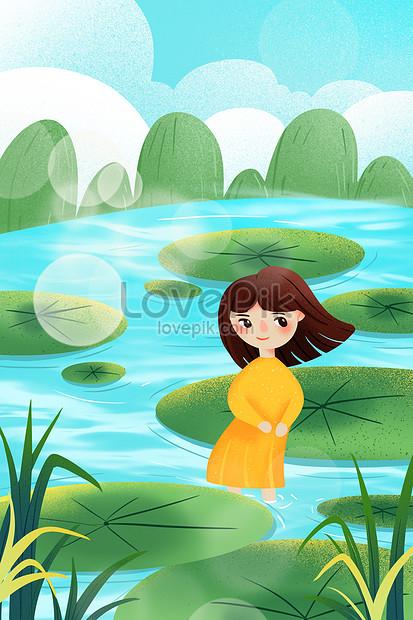 xiao qingxin lixia illustration