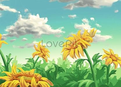 Sunflower under the blue sky jpg