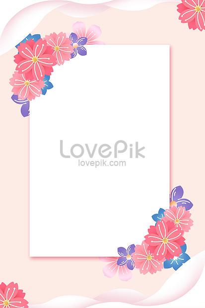 pink border floral background