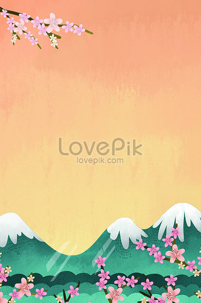 cherry blossom landscape background