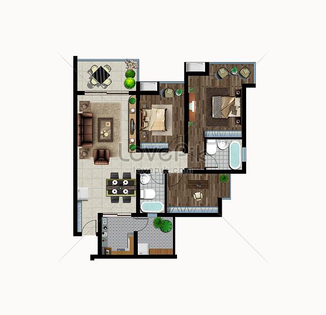 Color Floor Plan Creative Image Picture Free Download 401174106 Lovepik Com